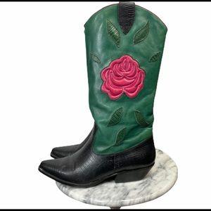 Nine West Floral Cowboy Boots